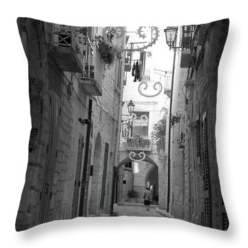 My Old Town Throw Pillow