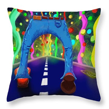 My Pants In Clown Shoes  Throw Pillow