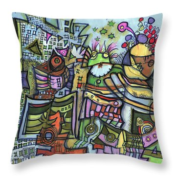 My Party Throw Pillow by Sandra Church
