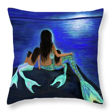 Throw Pillow featuring the painting My Precious Bunch by Leslie Allen