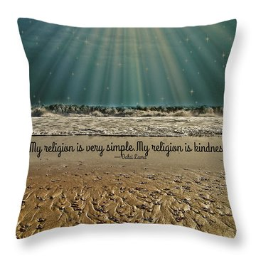Throw Pillow featuring the mixed media My Religion by Trish Tritz