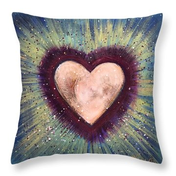 Throw Pillow featuring the painting My Royal Heart by Laurie Maves ART