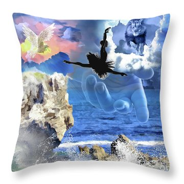 My Savior Throw Pillow by Dolores Develde