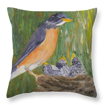 My Second Family Throw Pillow