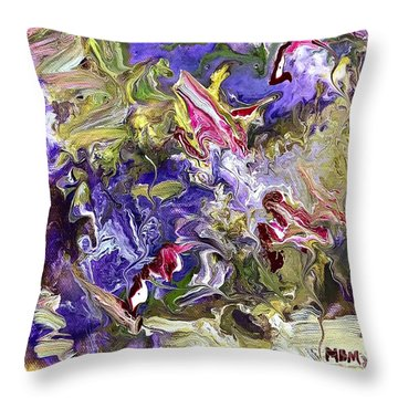 My Secret Garden Throw Pillow