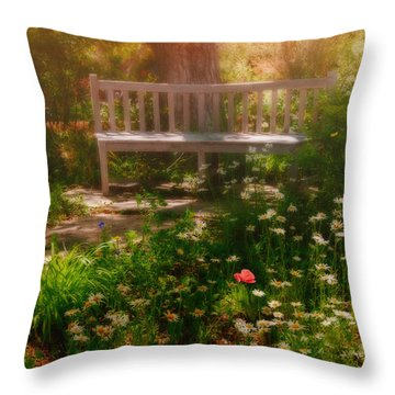 My Secret Place Throw Pillow by Carolyn Dalessandro