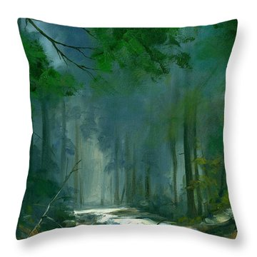 My Secret Place II Throw Pillow by Michael Swanson