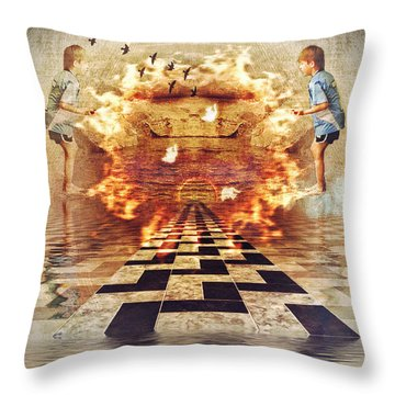 My Shadow's Reflection II Throw Pillow