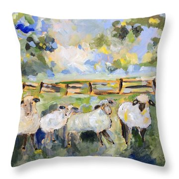 My Sheep Will Follow Me Throw Pillow