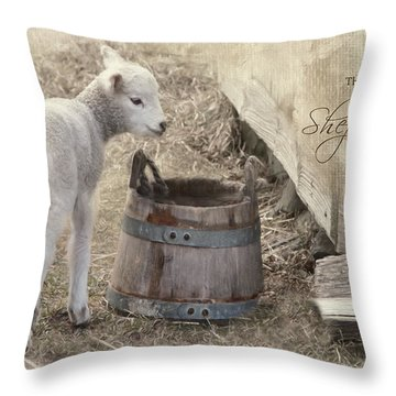 Throw Pillow featuring the photograph My Shepherd by Robin-Lee Vieira