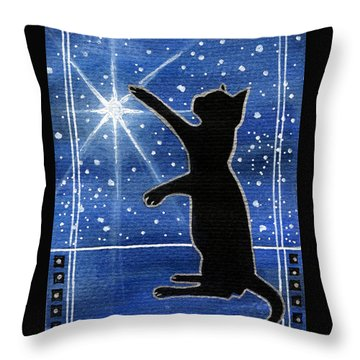 My Shinning Star - Christmas Cat Throw Pillow