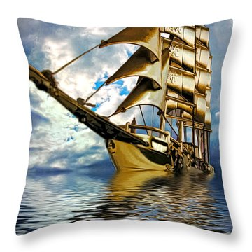My Ship Comes In Throw Pillow by Pennie  McCracken