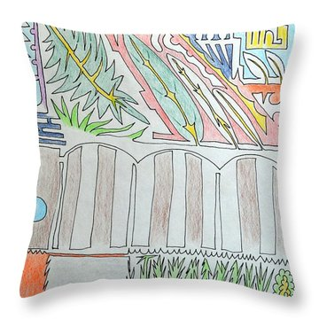 My Side Yard Throw Pillow by J R Seymour