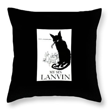 Throw Pillow featuring the digital art My Sin by ReInVintaged