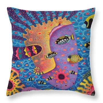 My Son 2 Throw Pillow by Opas Chotiphantawanon