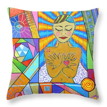 My Soul, I Carry Throw Pillow by Jeremy Aiyadurai