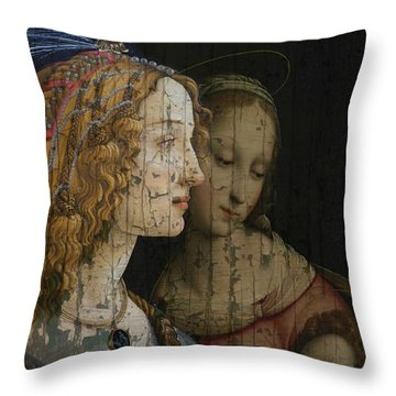Throw Pillow featuring the mixed media My Special Child by Paul Lovering