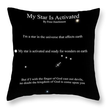 My Star Is Activated Throw Pillow