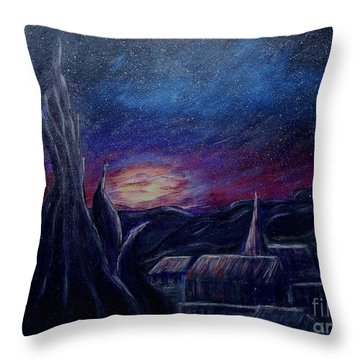 My Starry Night Throw Pillow