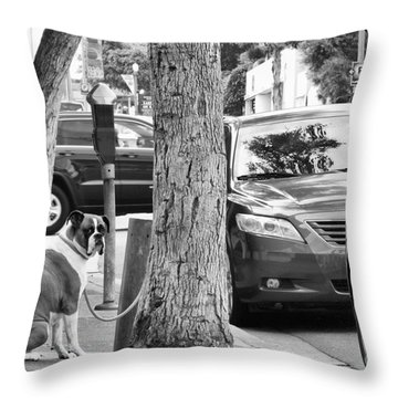 My Street, Dude Throw Pillow
