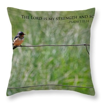 My Strength Throw Pillow by Bonnie Bruno