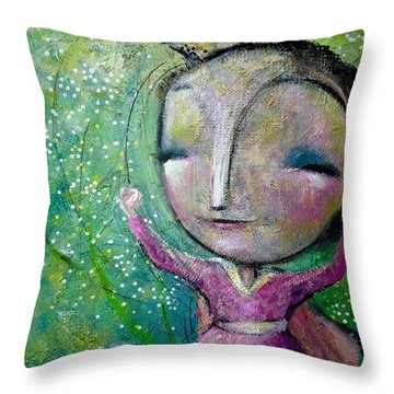 My Super Powers  Throw Pillow by Eleatta Diver