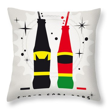 My Super Soda Pops No-01 Throw Pillow