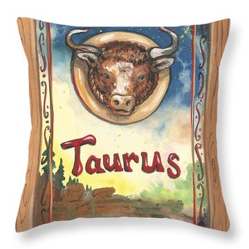 My Taurus Throw Pillow