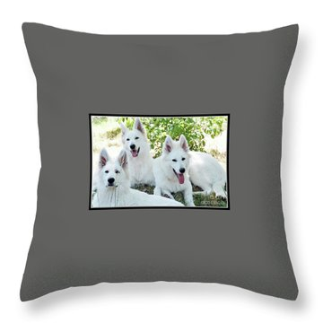 My Three Amigos Throw Pillow
