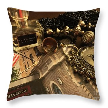 My Travel Feminine Accoutrements  Throw Pillow