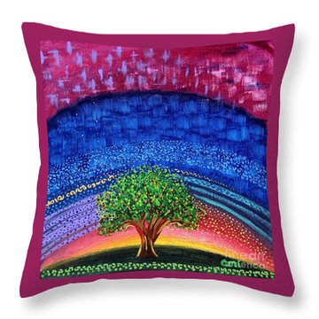 Tree At Nightfall Throw Pillow