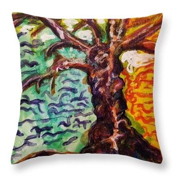 My Treefriend Throw Pillow by Mimulux patricia no No