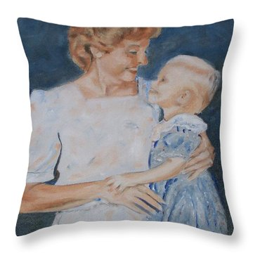 My Two Ladies Throw Pillow