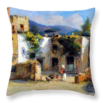 My Uncle Farm House Throw Pillow