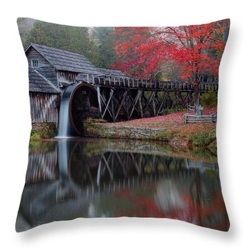My Version Of Mabry Mills Virginia  Throw Pillow
