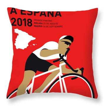My Vuelta A Espana Minimal Poster 2018 Throw Pillow