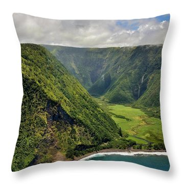 My Waterfall Valley  Throw Pillow