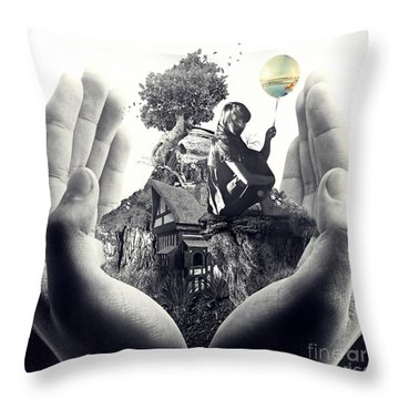 My Way Throw Pillow by Mo T