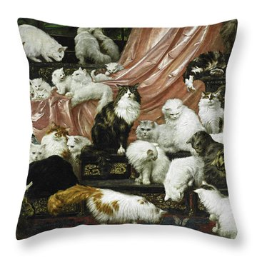 My Wife's Lovers Throw Pillow by Carl Kahler