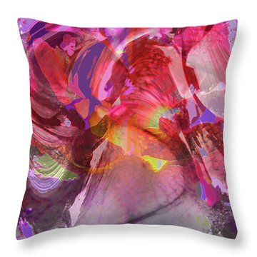 My Wild Iris Glows - Floral Abstract - Photography Throw Pillow