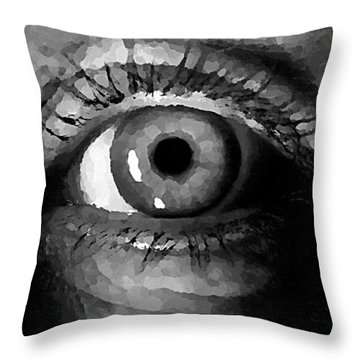 My Window In Bw Throw Pillow