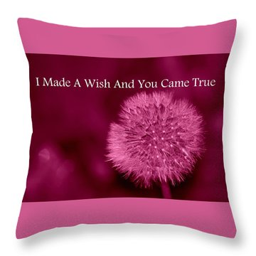My Wish Throw Pillow