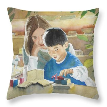 My Work Throw Pillow by Marilyn Jacobson