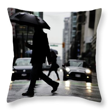 My World Hers Two Throw Pillow by Empty Wall