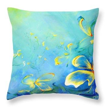 My World Throw Pillow by Teresa Wegrzyn