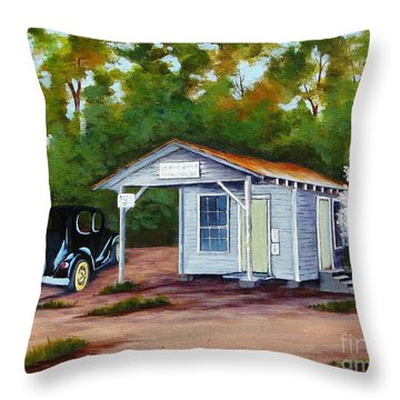 Myers Mill Post Office Throw Pillow