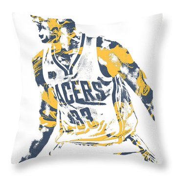 Myles Turner Indiana Pacers Pixel Art 1 Throw Pillow