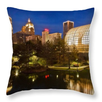 Myriad Gardens Throw Pillow