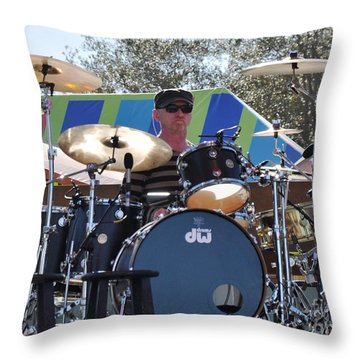 Myron Grombacher - Pat Benatar Band Throw Pillow