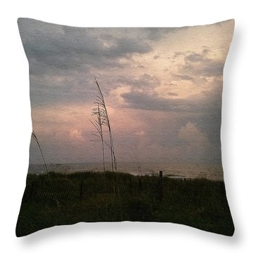 Myrtle Beach At Dusk Throw Pillow